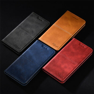 For Huawei Honor 8X 10 9 8 7 Lite Magnetic Leather Flip Wallet Card Case Cover