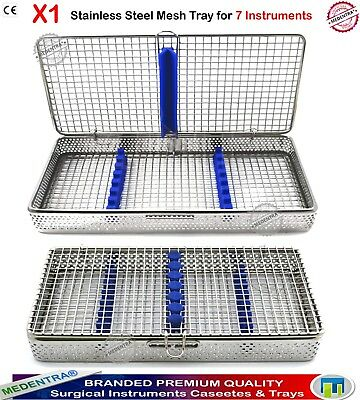 X1 Wire Mesh 7 Instruments Tray Sterilization Surgical Cassette Dental Autoclave