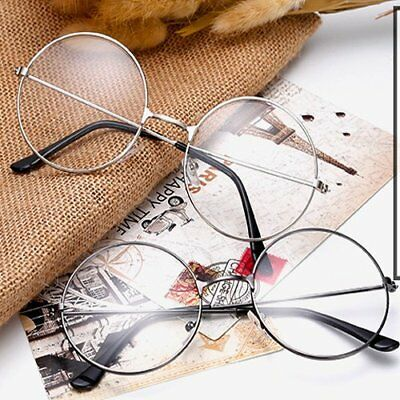Korean Style Nerd Spectacles Eyeglass Metal Frame Clear Round Lens Glasses RU