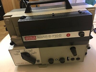VINTAGE EUMIG MARK-S-710D SOUND PROJECTOR (ALL THE 8's) PLEASE READ