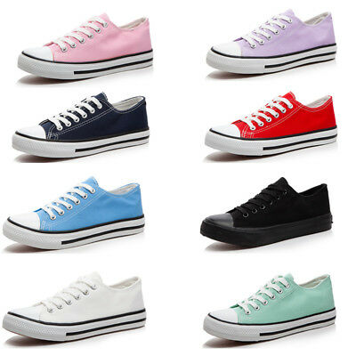 New Men Women Classic Canvas Shoes Low High Top Chuck Taylor Trainers Sneakers