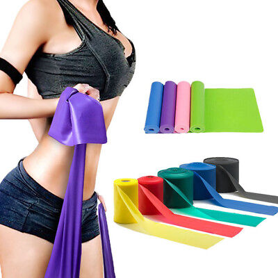 Latex Resistance Band Strength Weight Pull Up Gym Fitness Exercise Yoga Training