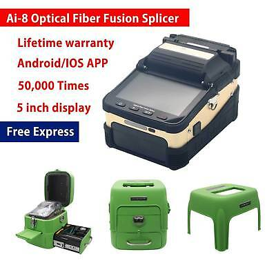 Ai-8 Intelligent Auto Optical Fiber Cleaver Fusion Splicer fit Night Operation
