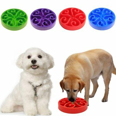 Slow Feed Interactive Bloat Stop Dog Bowl Large Food Pet Feeder Eating Cup RU