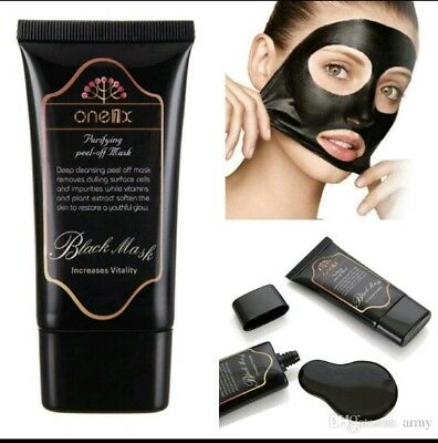Charcoal Blackhead Remover Peel Off Facial Cleaning Black Face Mask 50ml One1x