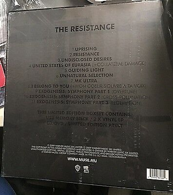 Muse - The Resistance- Box Set  2009 -  Ltd Ed Uk 825646869664  - Sealed Mint