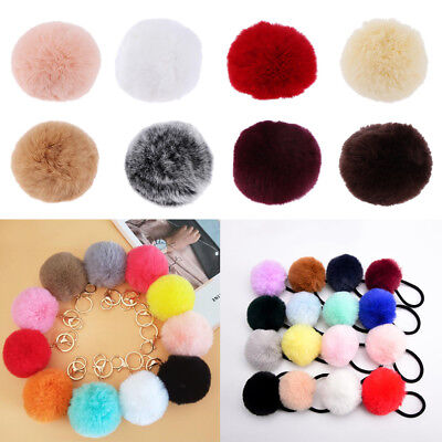 Cute Crafts DIY Faux Fur Pompom Ball for Keyring Hat Clothes Shoes Accessory