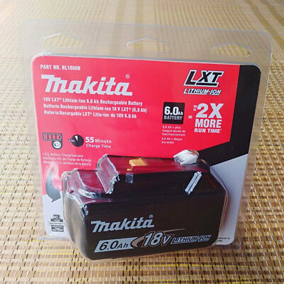 Brand New Genuine  Makita 6.0AH 18 Voit BL1860B Original  Li-ion batterya