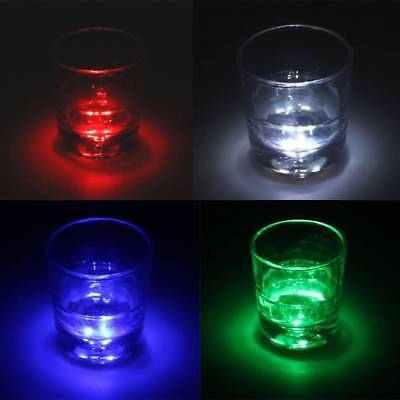 LED Coaster Flashing Light Bulb Bottle Cup Mat Light Up For Club Bar Party Decor