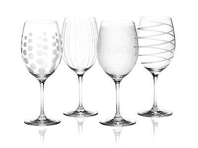 Mikasa Cheers Red Wine Crystal Glasses Set of 4 685ml Gift Boxed Glassware
