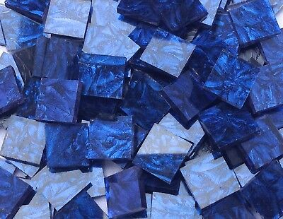 Blue Van Gogh Stained Glass Mosaic Tiles