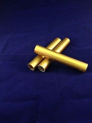 Aluminium Gold Anodised Round Tubes 25.4mm Diameter, Various Lengths Available