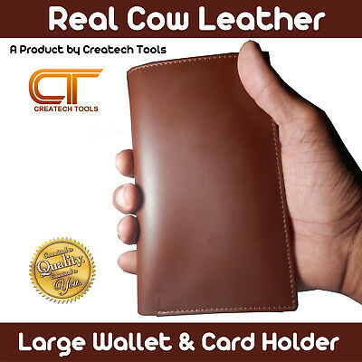 Real Cow Leather Large Size Luxury Men's Wallet & Credit card Holder HANDMADE