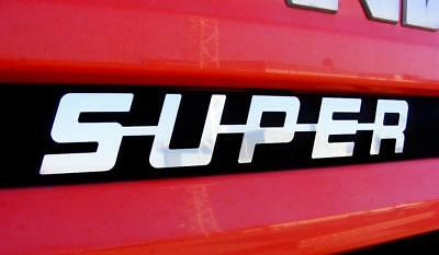 Scania Series Name Badge 'super' Chrome Stainless Steel