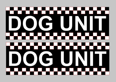 Dog Unit Magnet Battenberg Security K9 Handler UNIT Magnetic Car Door SIA x2