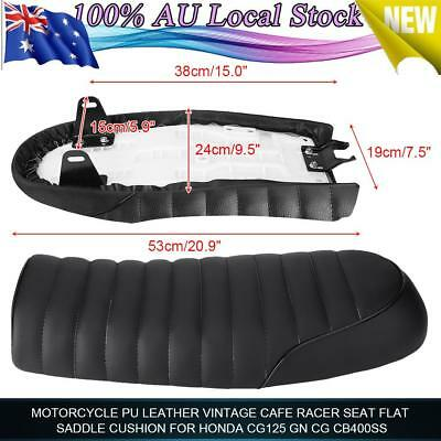 Universal Motorcycle Cafe Racer Flat Seat Saddle for Honda CG125 GN CG CB200