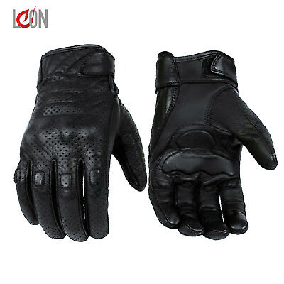 New Leather Motorbike Motorcycle Gloves Knuckle Protection