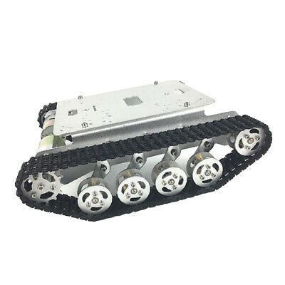 Smart Robot Tank Car Chassis Kit Rubber Track Crawler for Arduino Motor