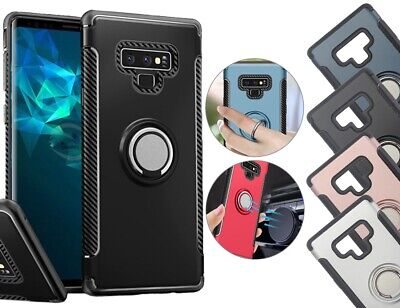 Pour Samsung Galaxy S8 S9 Plus Ring Cas Cover Pour Aimant Car Shockproof Hybrid