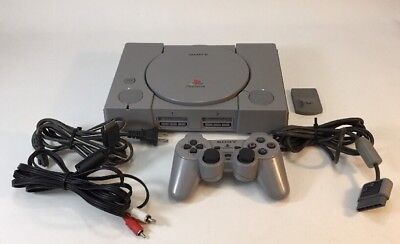 Official Sony PlayStation 1 PS1 Console Complete w 1Controllers! Fast Shipping!