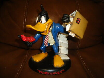 Rare Daffy Duck 1994 Warner Bros Workaholic Figurine
