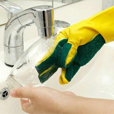 Latex Finger Cloth Glove Compound Sponge Cleaning Dish Washing Cleaning Glove ZX