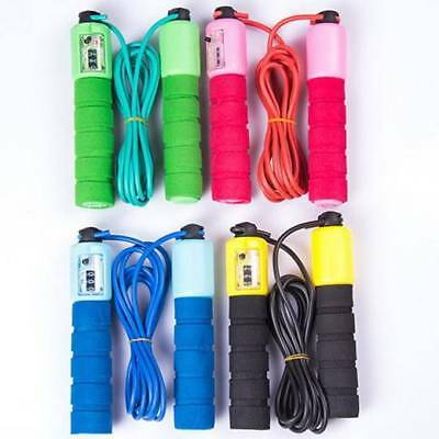 Skipping Rope With Jump Counter Exercise Boxing Gym Workout Fitness Adults Kid と