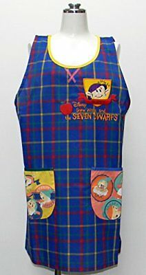 Snow White and the Seven Dwarfs applique apron Disney Blue 24057236