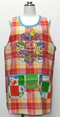 Snow White and the Seven Dwarfs back Wai apron Disney Red 24057226