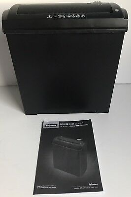 Fellowes Black P20 5 Sheet Strip Cut Shredder Home Office Security ID Theft VGC