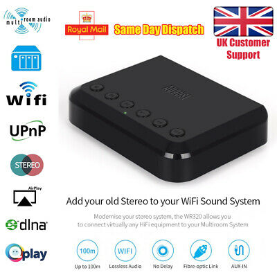 WiFi Audio Receiver - August WR320 - Multiroom Adaptor for Speaker Systems