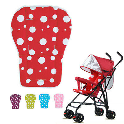 Baby Stroller Seat Cushion Pushchair Dot Print High Chair Pram Car Soft Cushion
