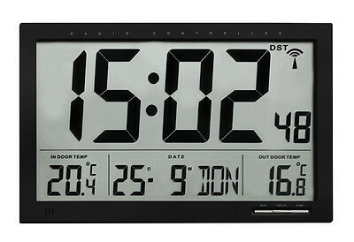Radio Controlled Wall Clock Etna Tfa 60.4510.01 Office Waiting Room Temperature