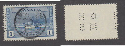 Used Canada $1 Destroyer Perforated Official Stamp #O262 (Lot #14653)