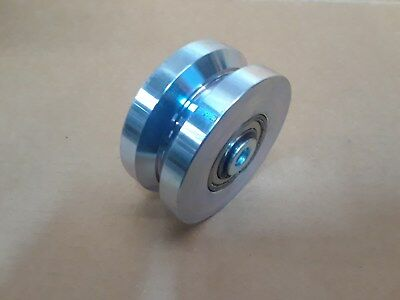 """4"""" x 2"""" COLD ROLLED STEEL, CHROMED V-Grooved Wheel    ( 3,000 LBS/EA-CAPACITY)"""