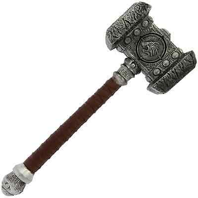 100% LARP PU Foam War Hammer Toy WARCRAFT Cosplay Fancy Dress Weapon Prop Gift