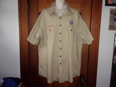 BOY SCOUTS Of America UNIFORM Shirt. DEN LEADER. Mid-America Council. Men's LG.