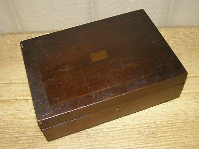 Original Civil War Era Officer's Wooden Traveling Lap Top Desk