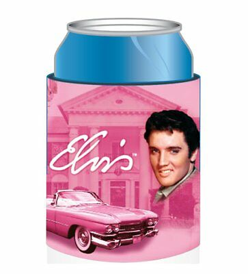 """ELVIS PRESLEY  """"THE KING"""" PINK CADILLAC CAN COOLER Coolie BEVERAGE INSULATOR NEW"""