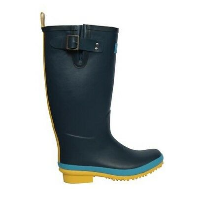 Briers Sandley Rubber Wellington Boots Blue/Yellow - UK Size 6 - B6357 #30A163