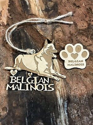 Belgian Malinois Christmas Ornament & 2 FREE MAGNETS