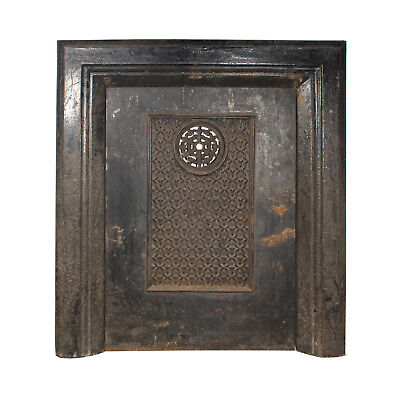 Antique Cast Iron Summer Cover & Surround, Late 1800's, NSC104