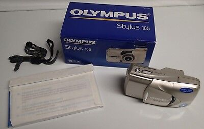Olympus Infinity Stylus Zoom 105 35mm Point & Shoot Film Camera NEW!