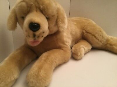 "Hugfun International Brown Lab Plush Dog Realistic Stuffed Animal Toy St 31""Long"