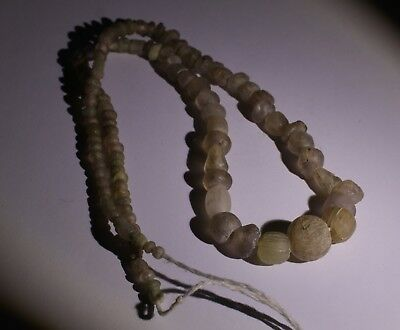 Ancient Roman Glass Bead Necklace Circa 2Nd Century Ad - No Reserve! 0241