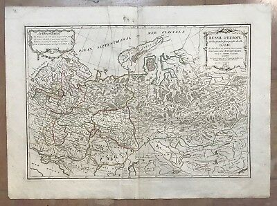 WESTERN RUSSIA 1782 JANVIER 18e CENTURY LARGE NICE ANTIQUE ENGRAVED MAP