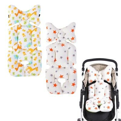 Baby Stroller Buggy Pram Deer Star Pattern Pushchair Pad Liner Mat Seat Cushion