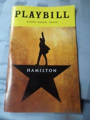 Hamilton An American Musical Playbill Richard Rodgers Theatre NYC New