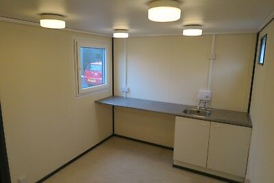 16x9 Ft Anti Vandal Site Office / Canteen+Toilet.Building/Canteen Container