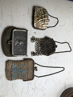 Antique Coin Purse Lot Chicago 1893 Chain Beaded